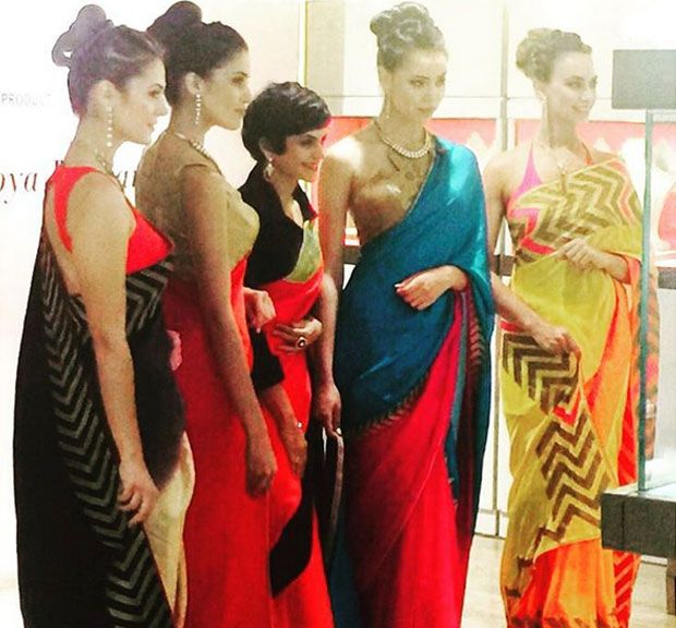 Mandira Bedi launches new saree collection inspired by nature