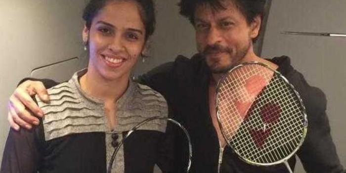 Badminton Queen Saina Nehwal Meets Badshah Shah Rukh on Dilwale Sets