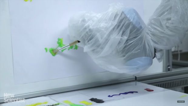 Now, robot that follows your eyes to create art