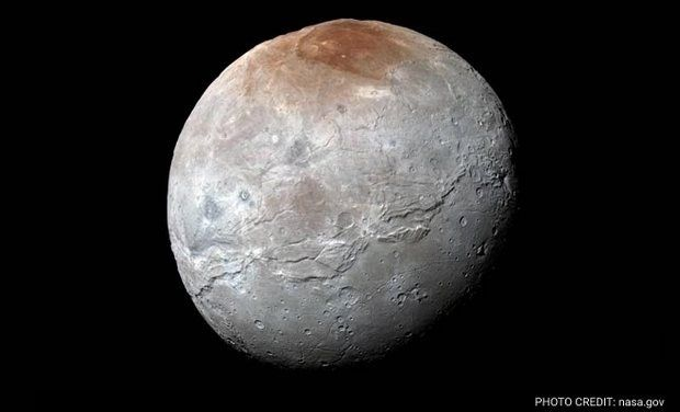 NASA catches Pluto's moon Charon in dazzling subtle element