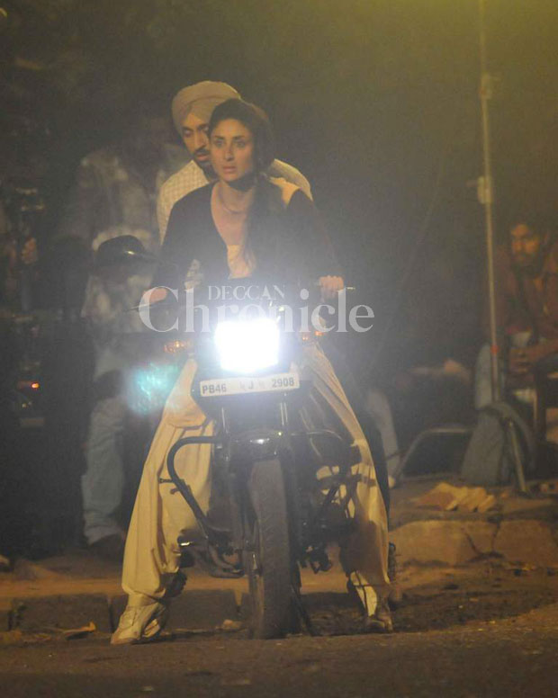 Kareena Kapoor takes Diljit Dosanjh for a ride on sets of 'Udta Punjab'