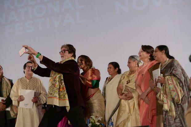 Mamata, Amitabh, Jaya, Sharmila and Vidya at Kolkata International Film Festival