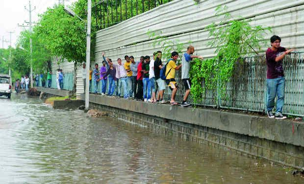 Water-logging may trigger ailments, contagious contamination