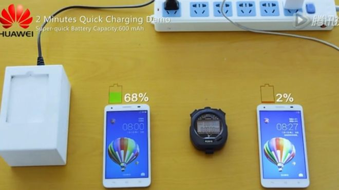 Huawei reveals quick-charge battery