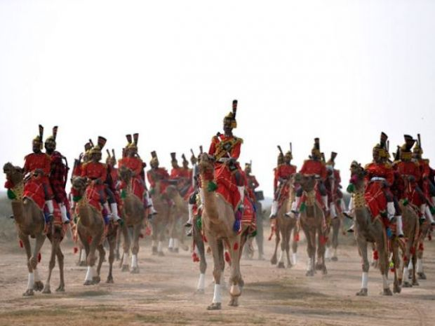Thirsty for fame: Pakistan's camel-mounted military bagpipe band