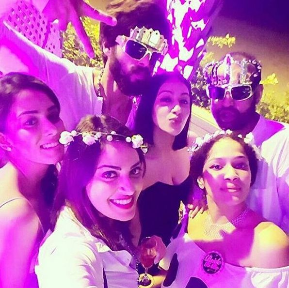 Shahid Kapoor and Mira Rajput have a photo flawless minute at Masaba Gupta's pre-wedding bash