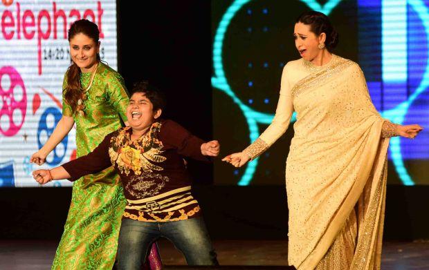 Karisma, Kareena and Tabu at International Children's Film Festival of India