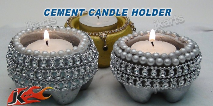 DIY How to make Cement Candle Holder – JK Arts 101