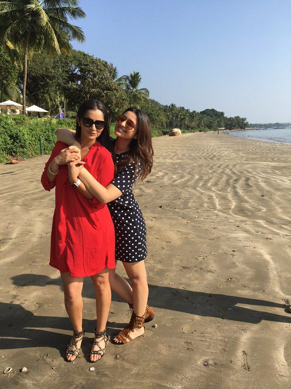 Parineeti Chopra and Sania Mirza work cum joy trek to Goa