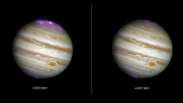 Jupiter shimmers with 'Northern Lights' after solar storms