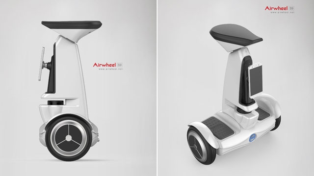 The Airwheel S9 self-balancing scooter also packs artificial intelligence