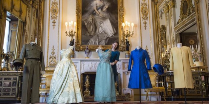 Queen's wardrobe goes on display at Buckingham Palace exhibit