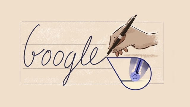 Inventor of the ballpoint pen remembered in Google's doodle