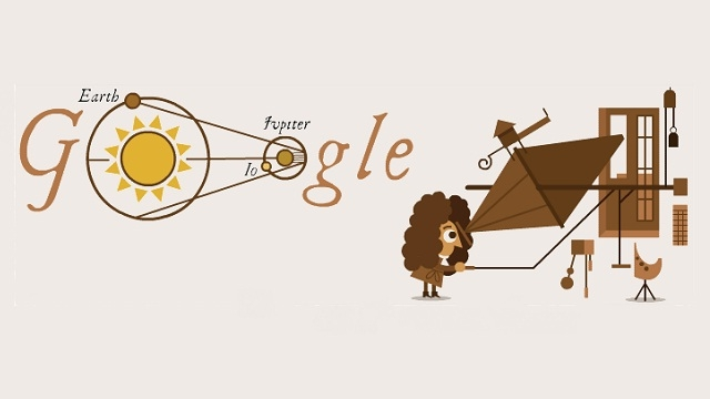 Google Doodle celebrates 340th anniversary of the determination of the speed of light