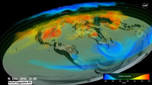 Watch: NASA's 3D simulation of atmospheric carbon dioxide will scare you