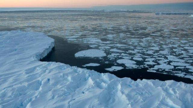 Massive Antarctic ice shelf at brink of breaking apart
