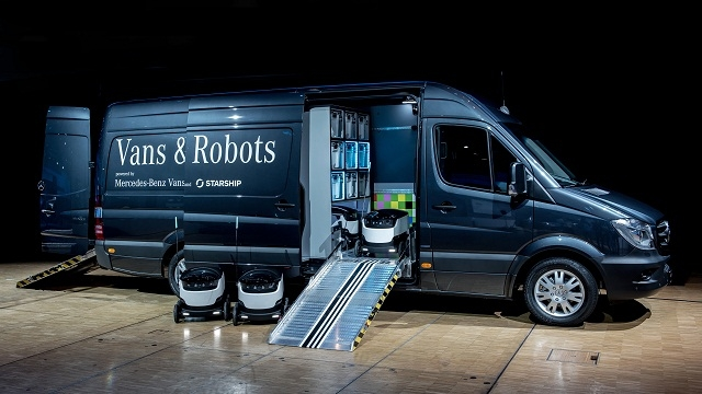 Mercedes wants to use robots for making goods deliveries