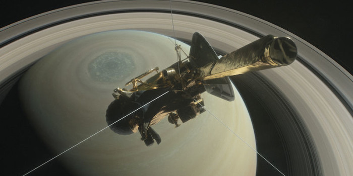 NASA's Cassini Spacecraft Plunges Beneath Saturn's Rings