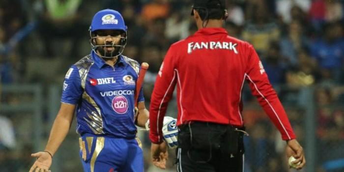 IPL 2017, Mumbai Indians vs Kolkata Knight Riders: Rohit Sharma reprimanded