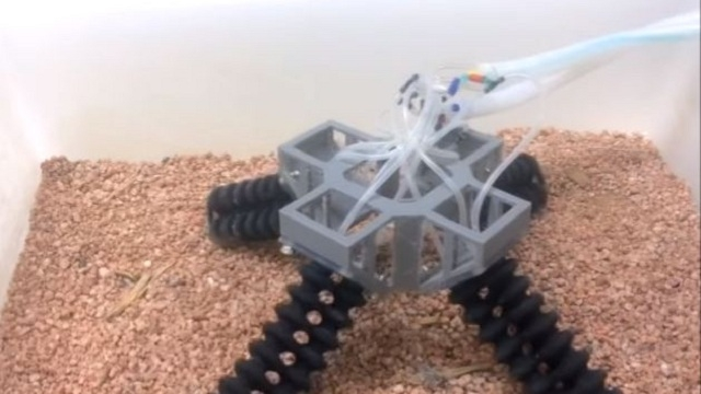 New 3D-printed, four-legged robot can walk on sand and stone!