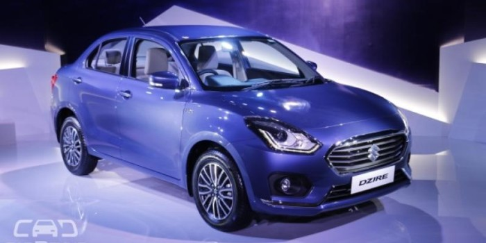 Maruti Suzuki Dzire official bookings starts at Rs 11,000