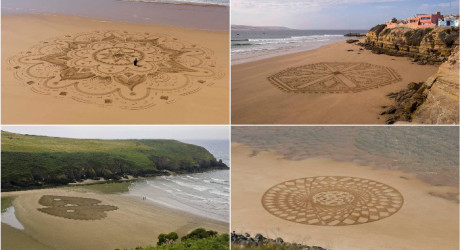 Man creates beautiful art inspired from Arabic designs