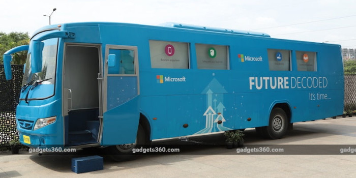 To Reach India's Small Businesses, Microsoft Bets on a Big, Blue Bus